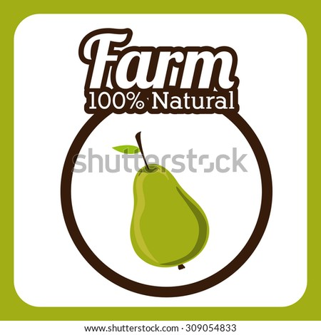Farm Food digital design, vector illustration eps 10