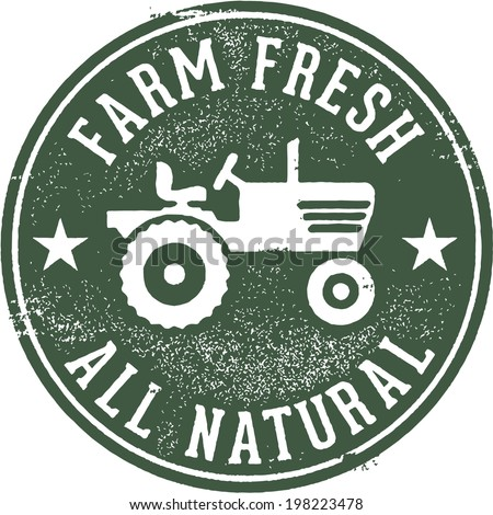 Farm Fresh All Natural Stamp - stock vector