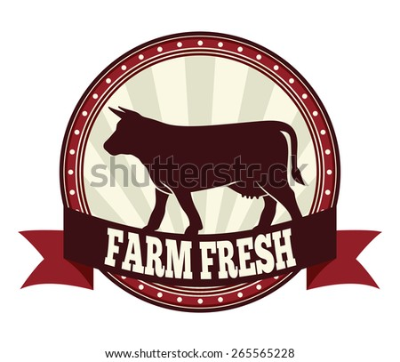 Farm fresh beef label