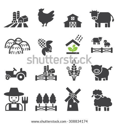 farm icon - stock vector