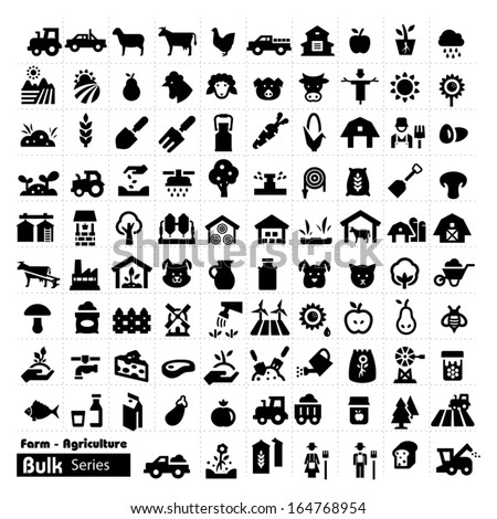Farm Icons - Bulk Series - stock vector