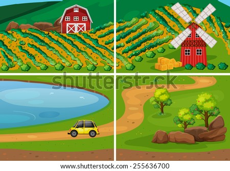 farm land in the countryside