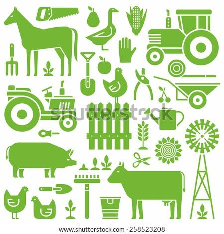 Farm pattern - stock vector