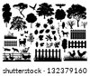 Farm silhouettes - stock vector