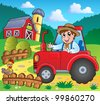Farm theme image 3 - vector illustration. - stock vector