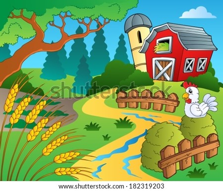 Farm theme with wheat - eps10 vector illustration.
