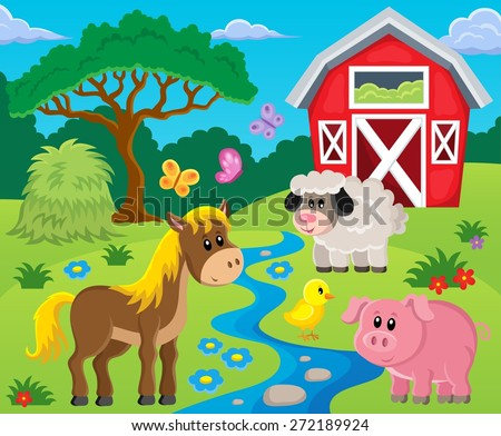 Farm topic image 1 - eps10 vector illustration. - stock vector