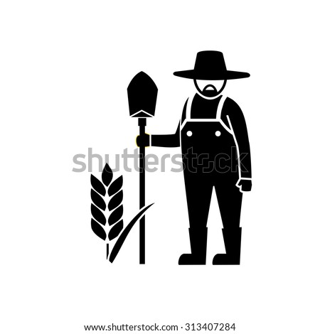Farmer icon - stock vector