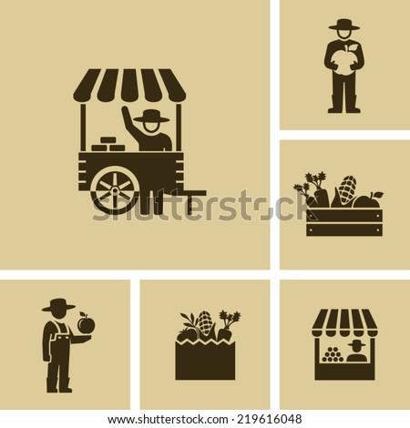 Farmer market  - stock vector