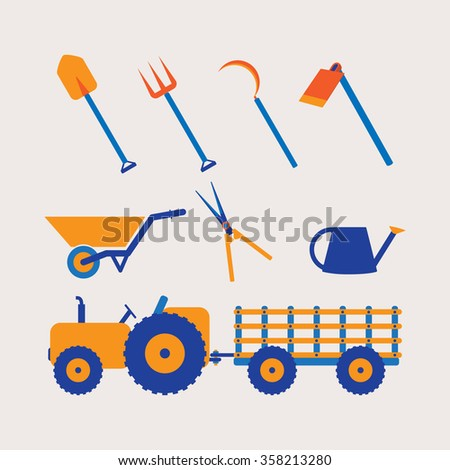 Farmer Tools Icon - stock vector