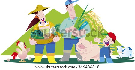 Farmers and animal husbandry