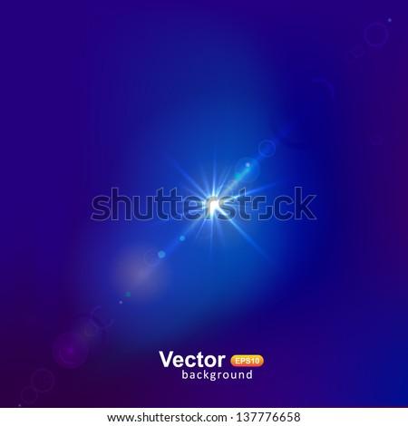 Fash of light - stock vector