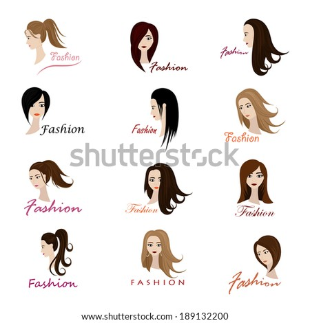 Fashion And Beauty Icons Set - Isolated On White Background - Vector Illustration, Graphic Design Editable For Your Design. - stock vector