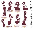fashion and beauty logo and emblem collection