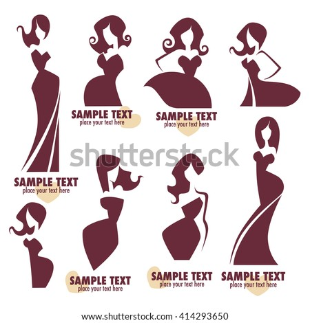 fashion and beauty logo and emblem collection - stock vector