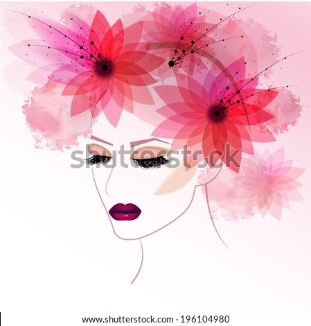 fashion and beauty pink make up