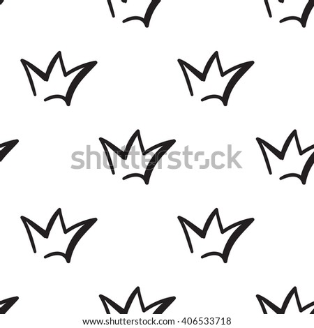 Fashion attractive fashion wedding background with crown. Beautiful hand drawn sketch on white background. Fashion, style, beauty, advertising greeting card, banner, design - stock vector
