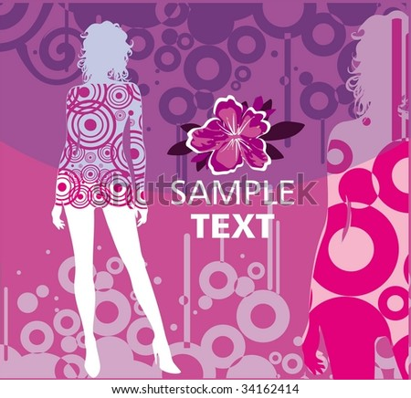 Fashion background - stock vector