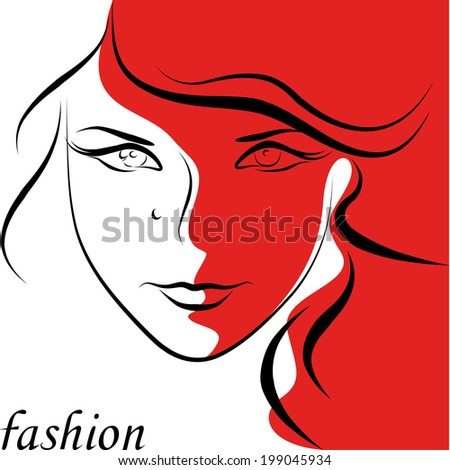 fashion beautiful woman - stock vector