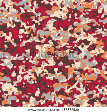 Fashion Camouflage Seamless Background Pattern - stock vector