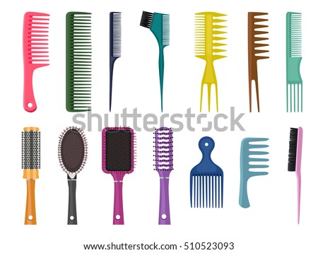 different styles of combing hair hair comb stock images royalty free images amp vectors 7297