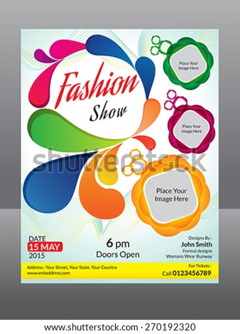fashion flyer template vector illustration - stock vector