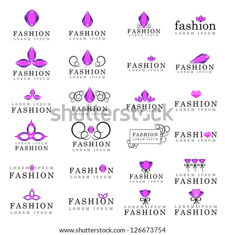 Fashion Icons Set - Isolated On White Background - Vector Illustration, Graphic Design Editable For Your Design. Fashion Logo - stock vector