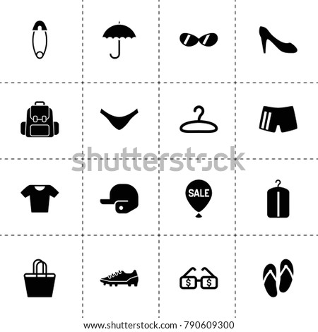 Fashion Icons Vector Collection Filled Fashion Stock Vector