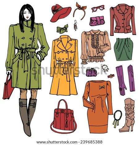 Autumn Fashion Illustration Fashion Illustration in Sketch