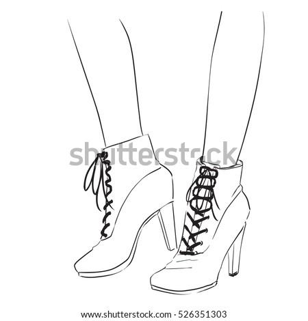 Easy shoe drawings