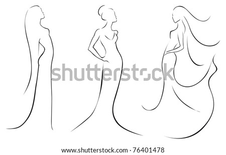 fashion in black lines - stock vector