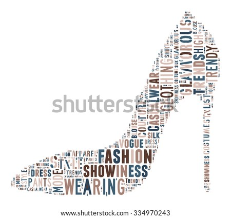 Fashion Keywords Tag Cloud    - vector illustration