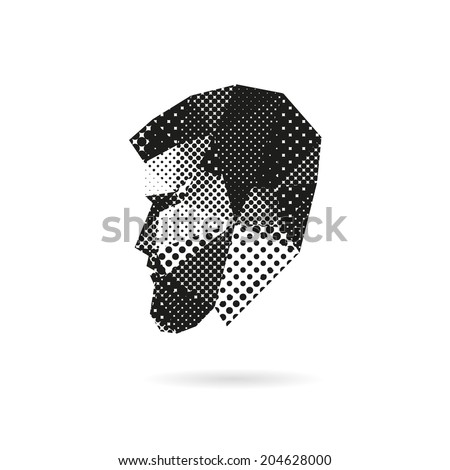 Fashion man silhouette, vector illustration - stock vector
