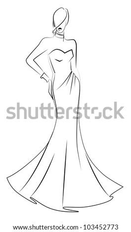 model garment sketch