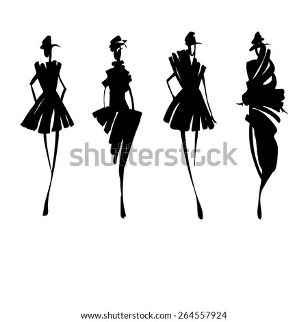 Dress sketch Stock Photos, Images, & Pictures | Shutterstock