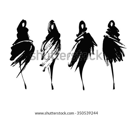 Set Fashion Logos Hand Drawn Vector Stock Vector 429859789 ...