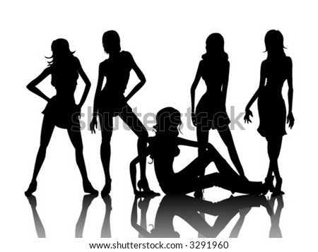 Fashion Models - Vector - stock vector