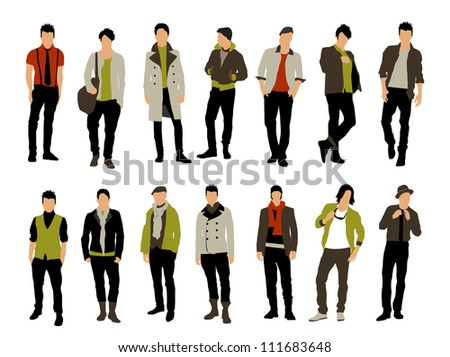 Fashion people - stock vector