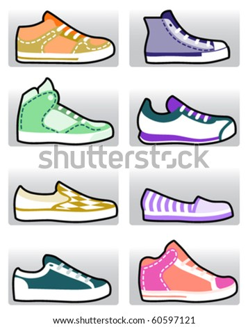 fashion shoes set