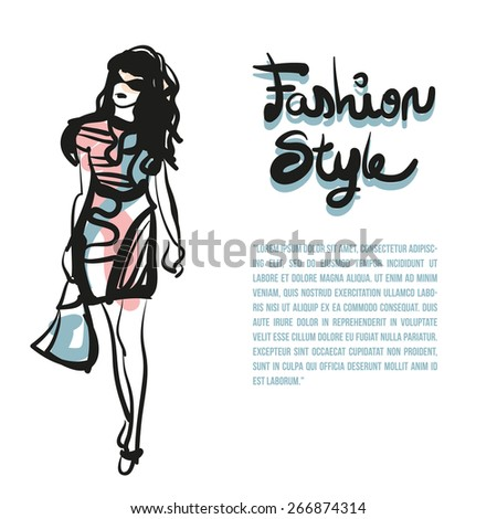 Fashion Show - stock vector