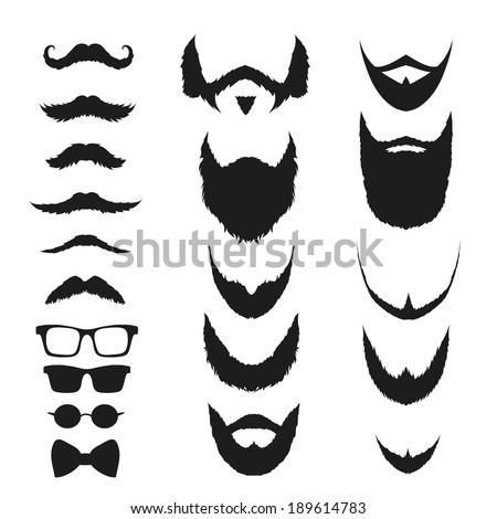 Beard Silhouettes Stoc...
