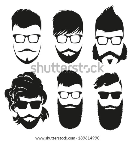 Beard Silhouettes Stock Photos Images Pictures Shutterstock