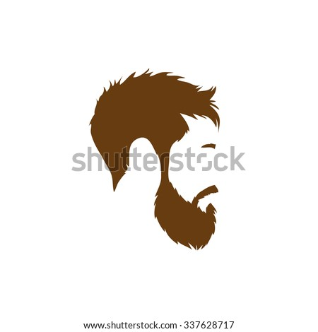 man with beard profile stock images royaltyfree images