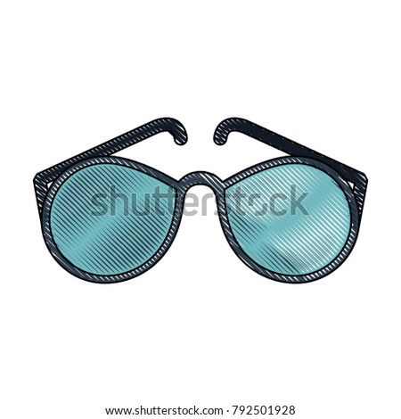 Fashion sunglasses isolated