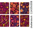 Fashion tablet skins. Modern floral patterns with flowers to customize your original device, design for card, label, tag, sticker. - stock vector