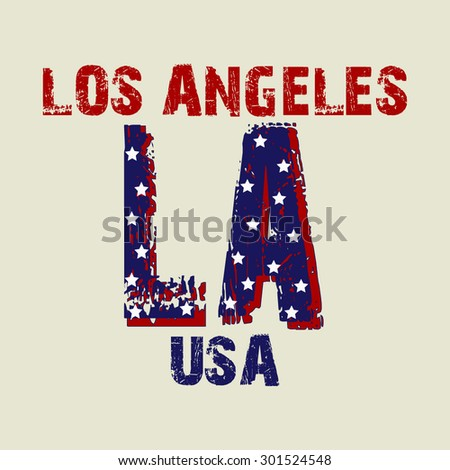 Fashion Typography Graphics. Los Angeles Sport T-shirt Design, vector illustration