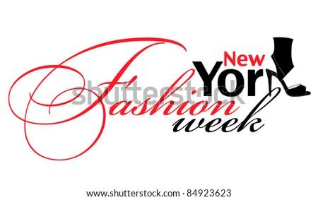 Fashion week design element (New York) - stock vector