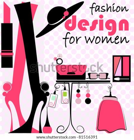 Fashion Woman illustration 1 - stock vector