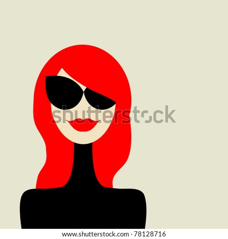 Fashion woman portrait for your design - stock vector