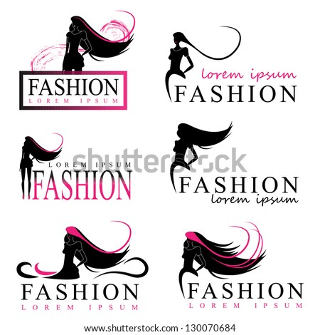 Fashion woman silhouette isolated on white background for Adiva beauty salon